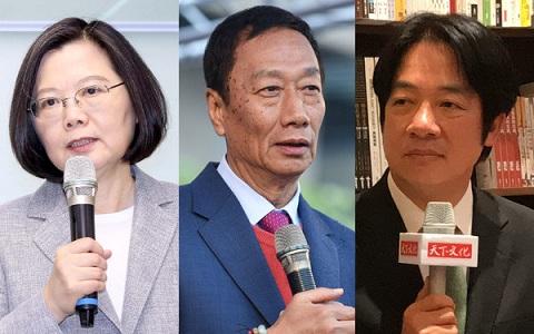 台最新民调:郭台铭支持度完胜蔡英文和赖清德