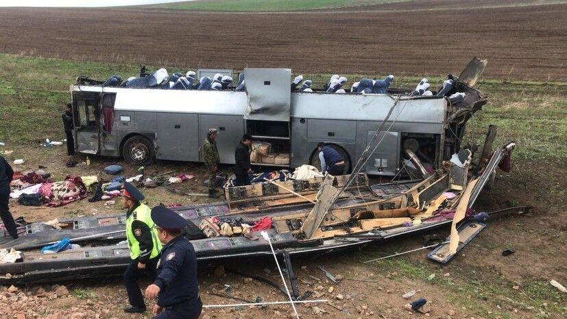 哈萨克斯坦巴士翻车 致11人死亡29人受伤