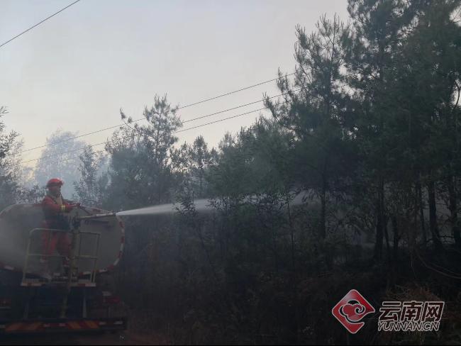 昆明龙池山山火仍在扑救 750余人已鏖战一夜