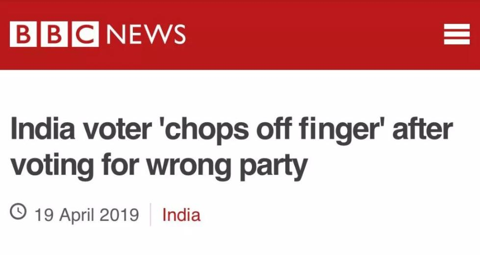这很印度!小哥自断食指,就是因为做了这件事!