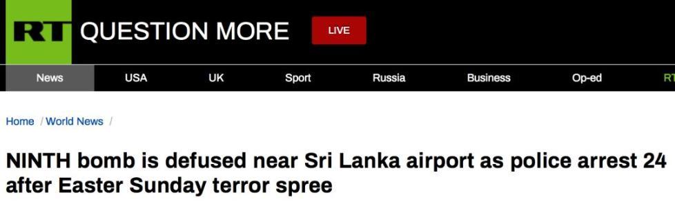 斯里兰卡爆炸现场亲历者讲述当时惨烈的一幕幕……