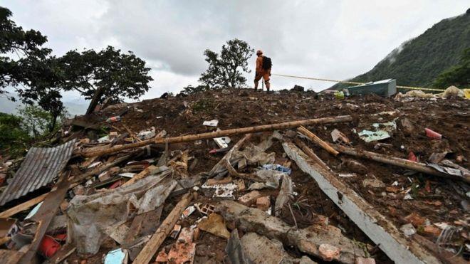 哥伦比亚山体滑坡已致17死5伤 多