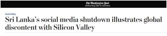 1号站:1号站:斯里兰卡爆炸引发对社交媒体质疑,美媒:越来越多国家希望政府监管