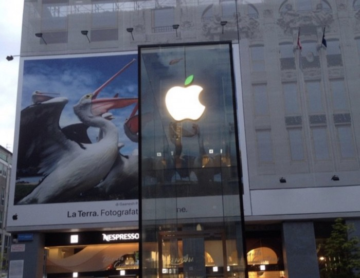 苹果通过将零售店Logo叶子变绿等方式庆祝地球日