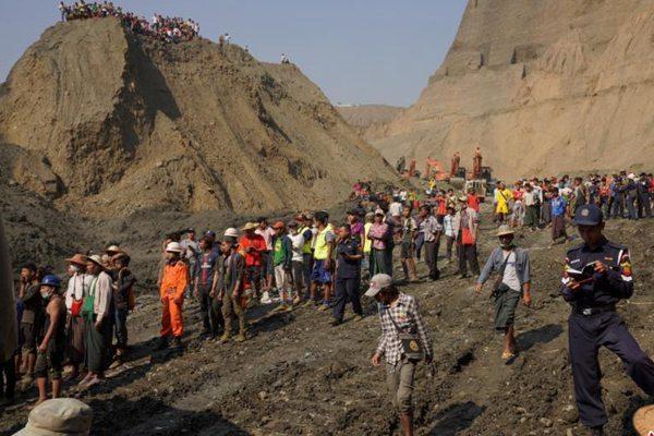 缅甸一矿区发生滑坡 数十人失联