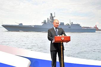 俄追加2艘22350型护卫舰 ?#31449;?#21442;加龙骨铺设仪式