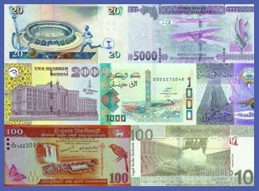 阿尔及利亚科威特 中国造上新钞
