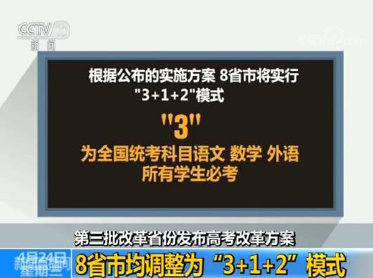 """""""3+1+2""""!8个省份发布高考改革方案 考生须物理历史二选一"""