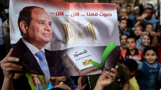 埃及通过全民公投 总统塞西将可执政至2030年