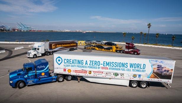 丰田推新燃料电池重型卡车 以便在洛杉矶附近运货