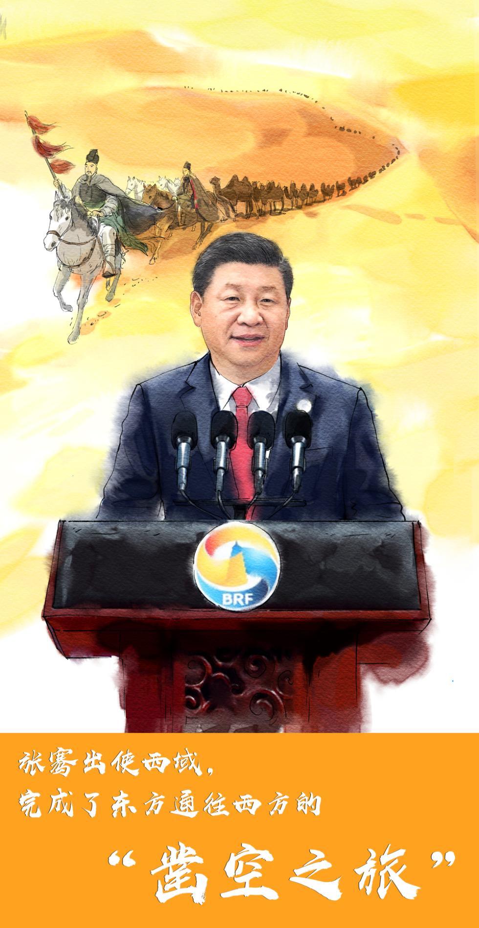 """【绘心绘语·""""一带一路""""】中国方案的历史印记"""