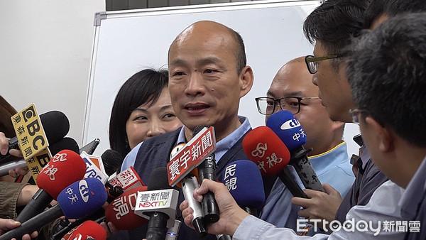 韩国瑜夜间受访表态:声明发表后暂不回应政治问题