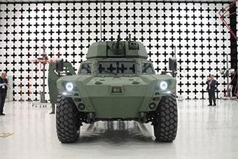 4轮轻装甲车扛炮塔?土耳其自研电动装甲车亮相