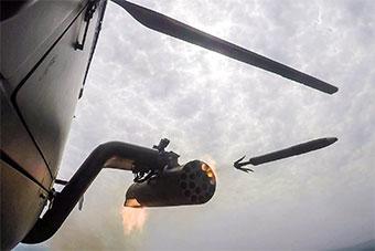 弹翼是原来这样折叠!武直发射火箭弹瞬间