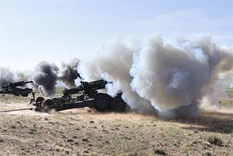 """阿尔及利亚大规模军演""""上瘾""""中国造榴弹炮登场"""