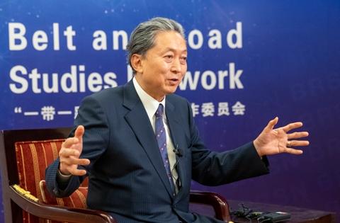 """鸠山由纪夫:望日本积极参与""""一带一路""""建设"""