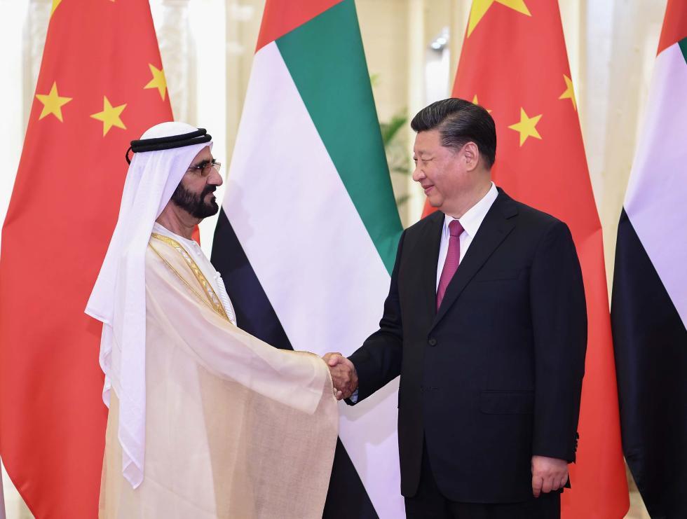 习近平会见阿联酋副总统兼总理 迪拜酋长