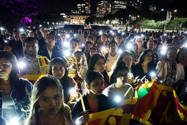 澳大利亚举行烛光集会 悼念斯里兰卡爆炸案遇难者