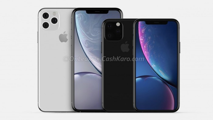 iPhone 11 Max CAD渲染图与iPhone 11对比