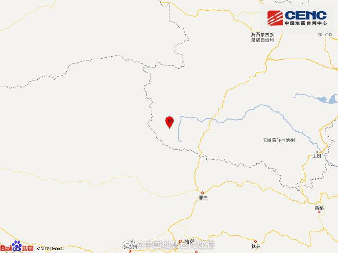 青海海西州唐古拉地区发生3.1级地震