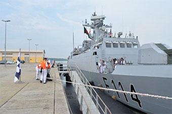 孟加拉海军采购两艘中国护卫舰抵达目的地