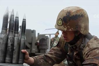 陆军防空部队实战训练比武:防空炮弹赶上胳膊粗