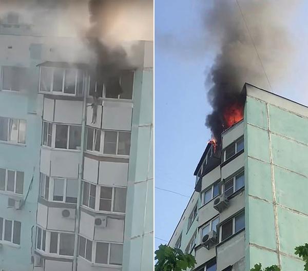 俄绝望母亲从着火高楼扔下3岁儿子后一同坠亡