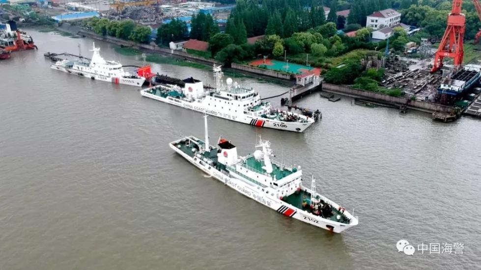 中国海警2019年海洋伏季休渔执法启动仪式在黄渤海、东海、南海同步举行