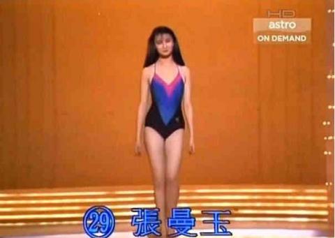 张曼玉早年出道照片,现在的女星差距真大,杨幂也不敢自称腿精了