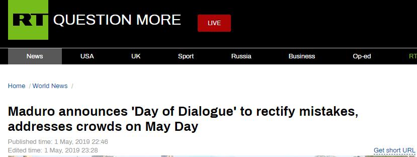 """马杜罗发表反对""""内战""""的演讲:我们互相残杀,美国人开怀大笑"""