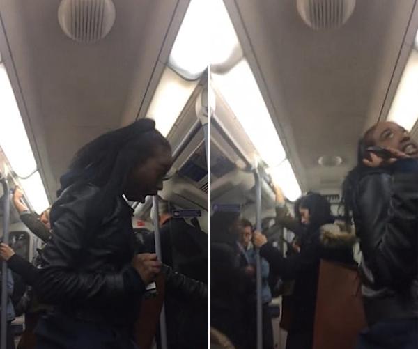 英醉酒女子地铁里辱骂一男子并抢其手机吐口水