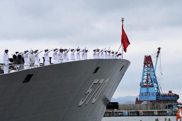 500人挥手惜别海军舰艇编队返航赴母港归建