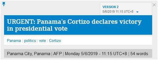快讯!科蒂佐宣布在巴拿马总统大选中获胜