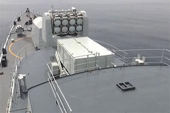 中俄军演双方联合防空演练首次实射舰空导弹