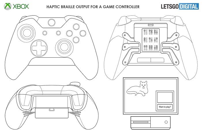 微软盲文触感游戏手柄专利曝光