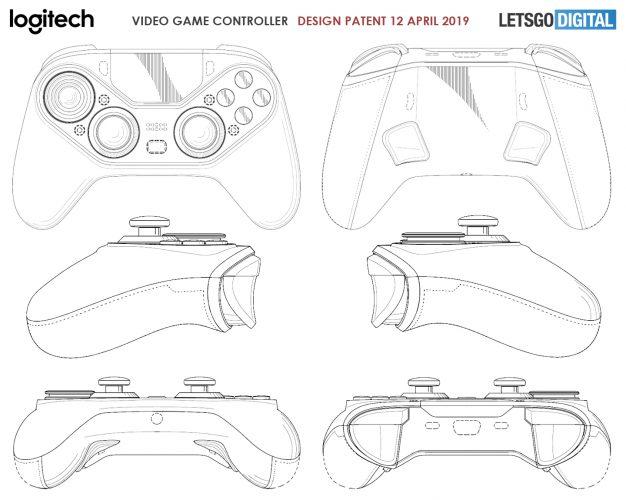 罗技新无线手柄专利曝光 带有一块触控板