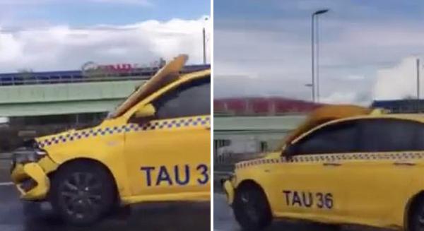 土耳其一出租车引擎盖上翻遮盖玻璃仍疯狂行驶