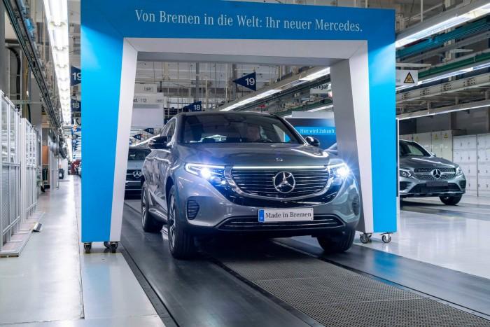 梅赛德斯-奔驰EQC电动车在德国投入生产