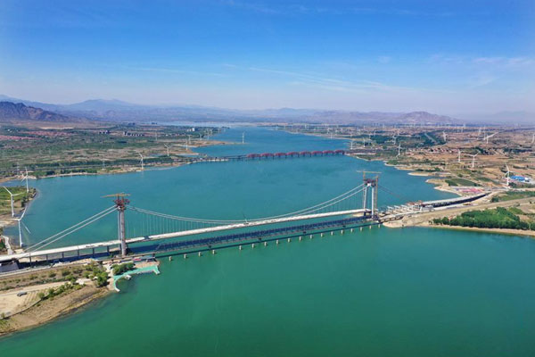 河北怀来:官厅水库公路大桥即将竣工