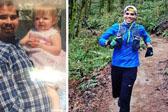 陪伴女儿跑5K 男子爱上跑步瘦了245斤