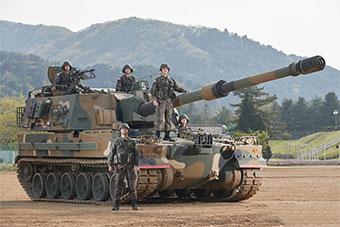 韓國演示其最新K9A1自行榴彈炮 內部升級不少