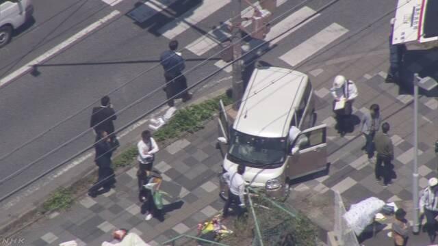 事故现场(NHK电视台)