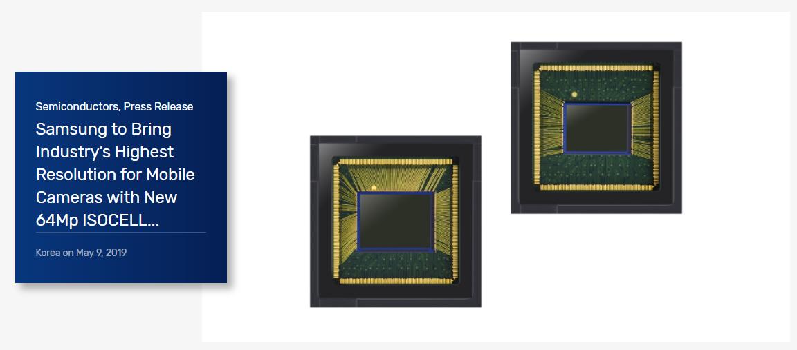 三星推全球首款6400万像素传感器,下半年量产