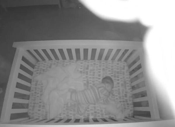 噩梦!蜘蛛夜晚从天而降 落到熟睡婴儿身上