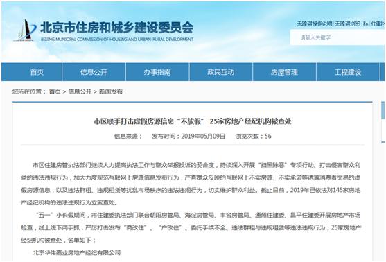 北京145家房地产中介被立案查处