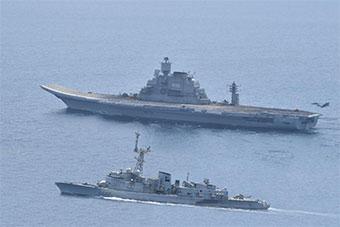印婆羅娜海上演習如火如荼 此前著火印航母參演