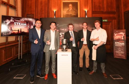 九阳造出了全球独一无二的蒸汽饭煲!在伦敦发布震撼世界