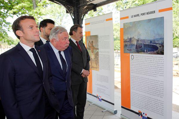 法国总统马克龙出席废除奴隶制纪念仪式