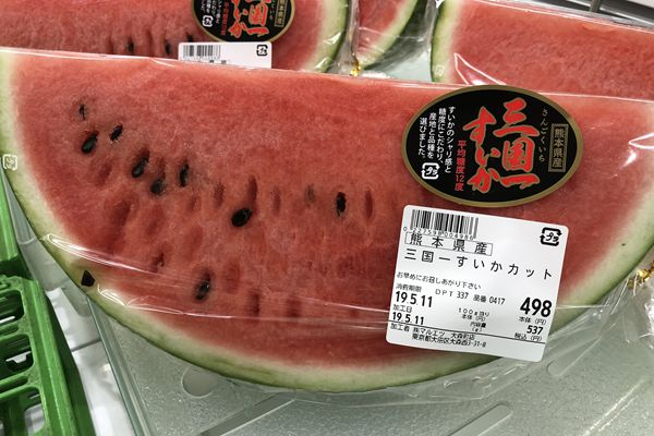 吃不起!在日本,八分之一片西瓜卖537日元