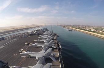 美國航母穿過蘇伊士運河進入紅海 逼近伊朗